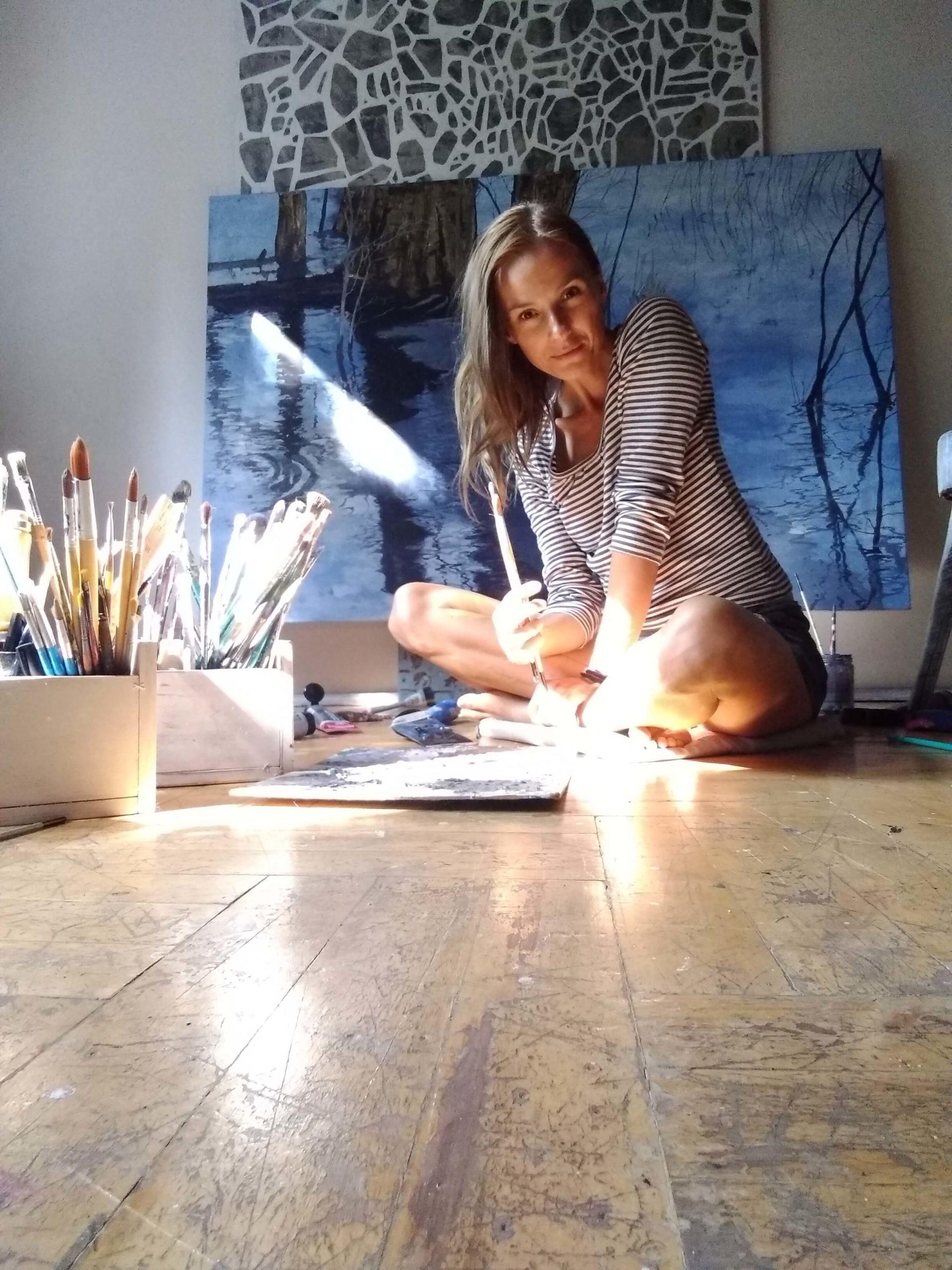 Izabela Kita - artystka w warsztacie